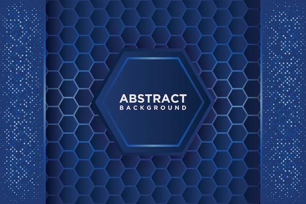 Abstrakcjonistyczny sześciokąta wzór z błękitnym pokrywają się.