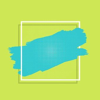 Abstrakcjonistyczny tło z farba uderzeniem i biel ramą