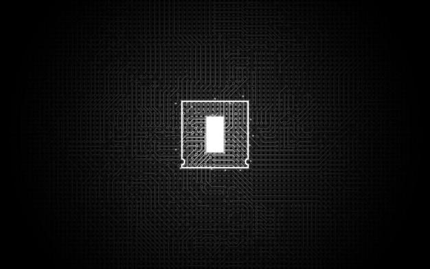 Abstrakcjonistyczny technologia układu scalonego procesoru tło