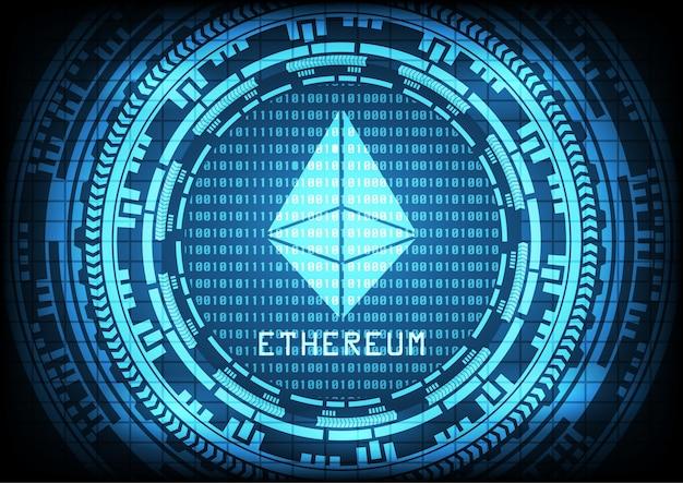 Abstrakcjonistyczny technologii ethereum cryptocurrency tło