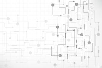 Abstrakcjonistyczny technologii tło z futurystyczną obwód deską