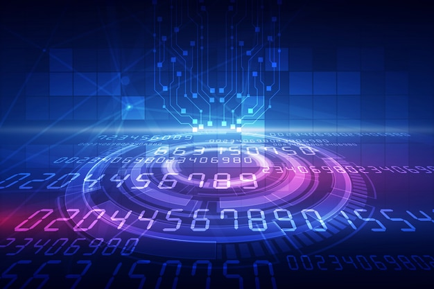 Abstrakcjonistyczny technologii tło hitech pojęcia innowaci komunikacyjny tło