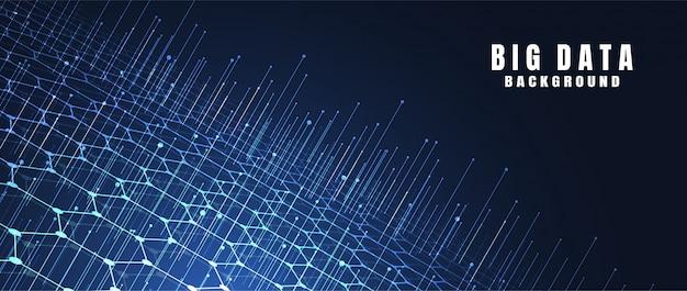 Abstrakcjonistyczny technologii tło z dużymi dane. połączenie internetowe