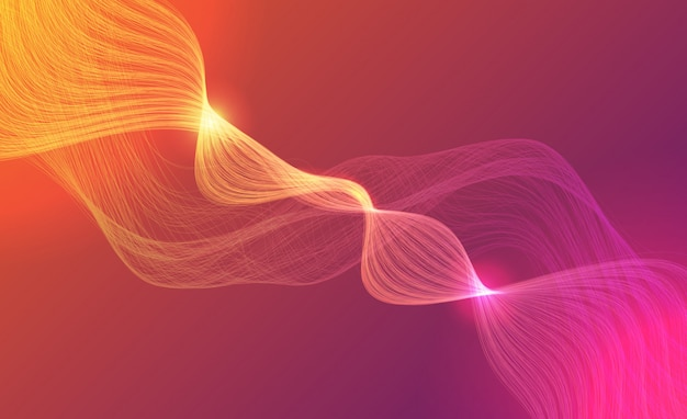 Abstrakcjonistyczny technologii tło z jarzyć się fala