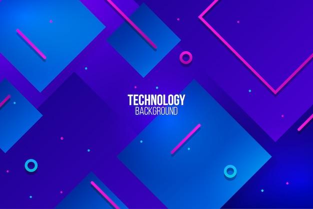 Abstrakcjonistyczny technologii tło z stylowymi kształtami