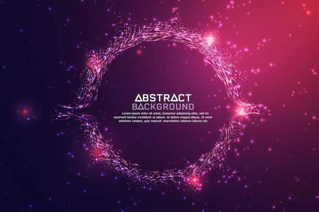 Abstrakcjonistyczny technologii tło.