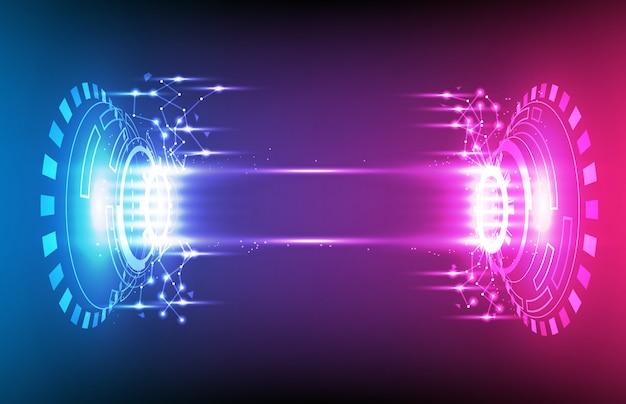 Abstrakcjonistyczny tło futurystyczny hud gui pokazu panel z światłem
