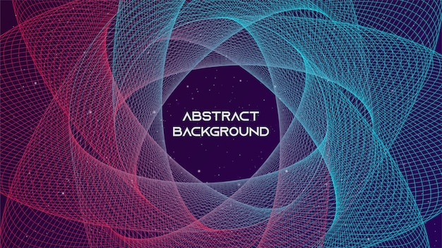 Abstrakcjonistyczny tło futurystyczny technologia styl
