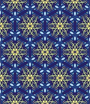 Abstrakcjonistyczny tło ornament, bezszwowy wzór z kwiatami