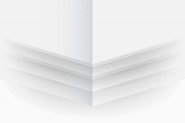 Abstrakcjonistyczny tło w białych i szarych cieniach, geometryczni kształty na białym tle, prostota konceptualna, wektorowy wizerunek