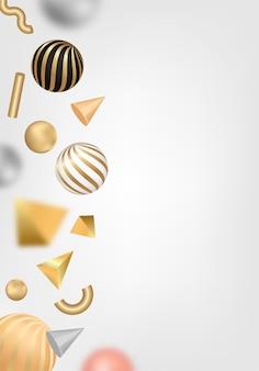 Abstrakcjonistyczny tło z 3d kształtami.