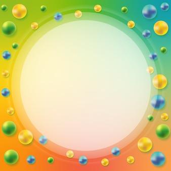 Abstrakcjonistyczny tło z 3d sferami. element dekoracyjny