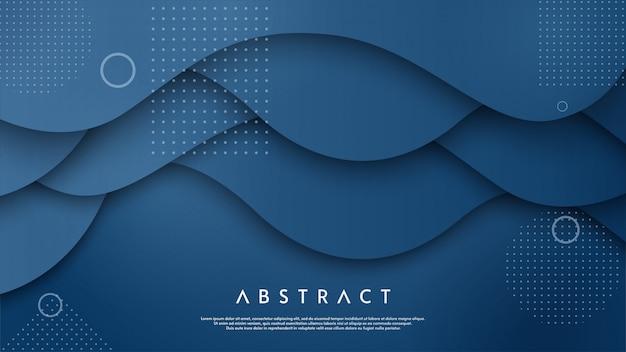 Abstrakcjonistyczny tło z błękit fala ilustracją.
