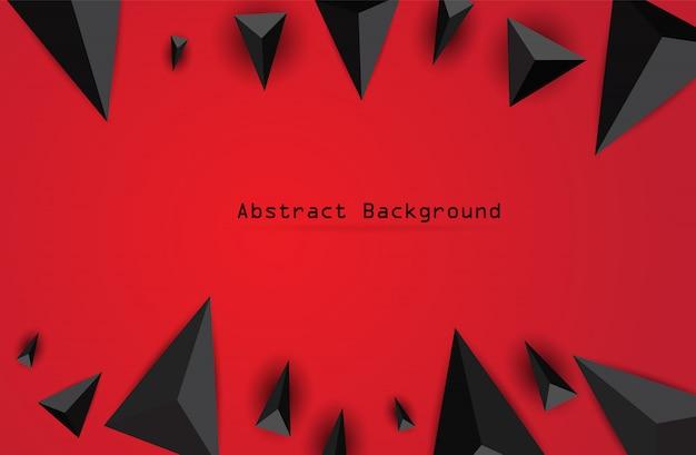 Abstrakcjonistyczny tło z czarnymi trójbokami.