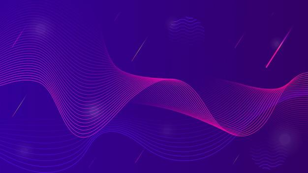 Abstrakcjonistyczny tło z falistymi liniami