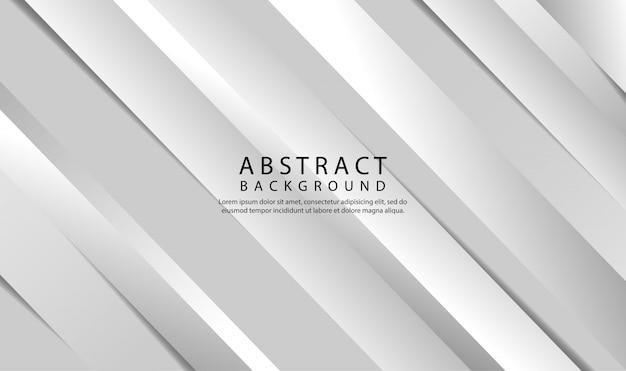 Abstrakcjonistyczny tło z geometrycznym białym i szarym gradientowym kolorem. nowoczesny styl tła o ukośnych kształtach