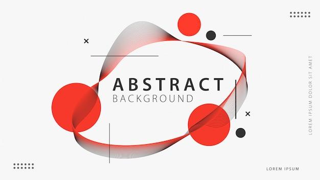 Abstrakcjonistyczny tło z geometrycznymi kształtami