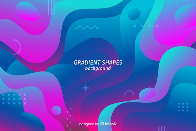 Abstrakcjonistyczny tło z gradientowymi kształtami