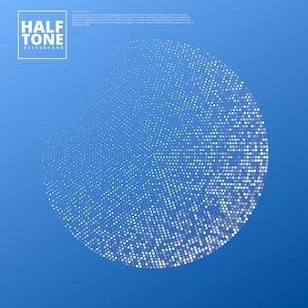 Abstrakcjonistyczny tło z halftone projektem.