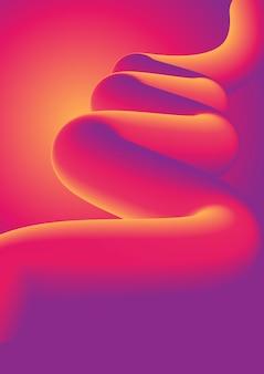 Abstrakcjonistyczny tło z kolorowym zawijasem