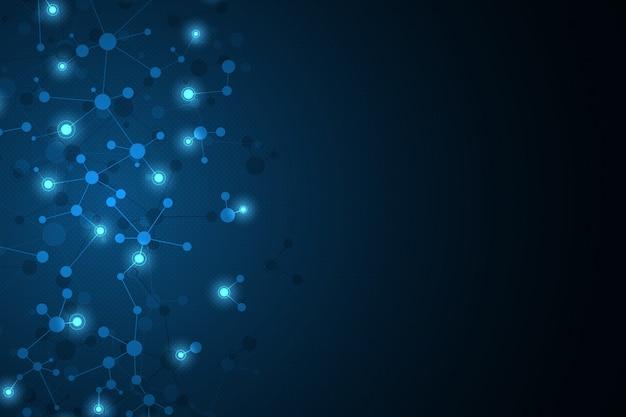 Abstrakcjonistyczny tło z molekuły dna