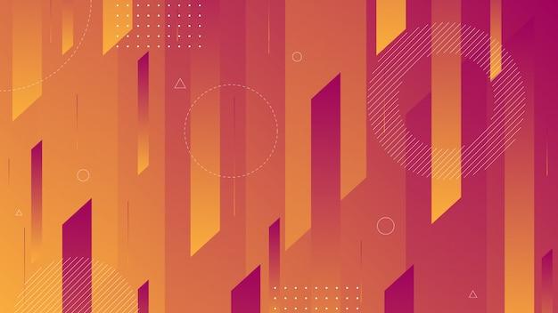 Abstrakcjonistyczny tło z nowożytną izometryczną linią i memphis elementem.