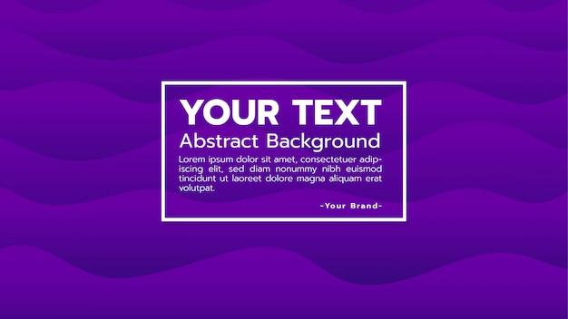 Abstrakcjonistyczny tło z purpurowym wodnej fala kształtem