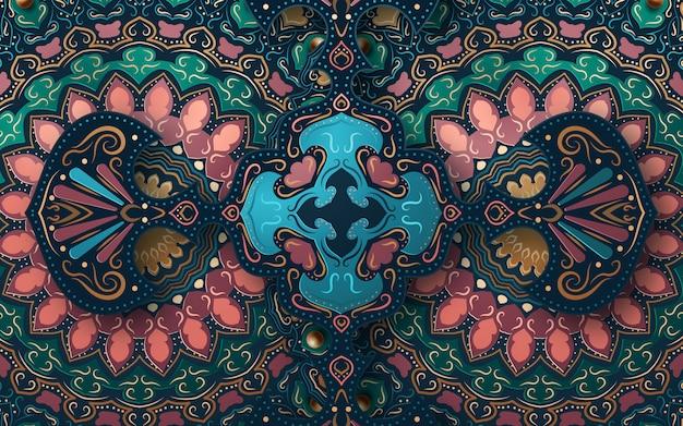 Abstrakcjonistyczny tło z tradycyjnym ornamentem