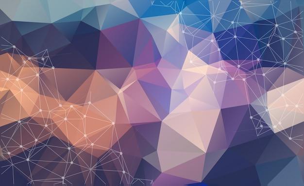 Abstrakcjonistyczny tło z trójgraniastymi komórkami dla projekta.