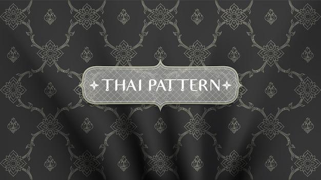 Abstrakcjonistyczny tradycyjny tajlandzki deseniowy tło.
