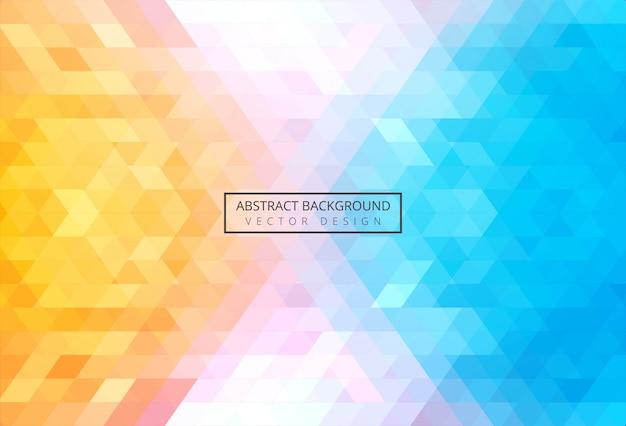 Abstrakcjonistyczny trójboka wzór kolorowy