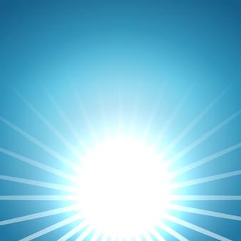 Abstrakcjonistyczny wektorowy powstający słońca tło