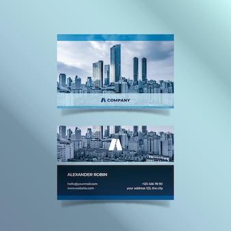 Abstrakcjonistyczny wizytówka szablon z wizerunkiem