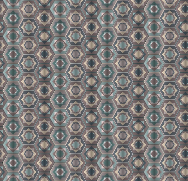 Abstrakcjonistyczny zakurzony szary sześciokąta bezszwowy wzór