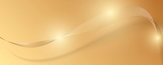 Abstrakcjonistyczny złocisty luksusowy sztandaru tło.