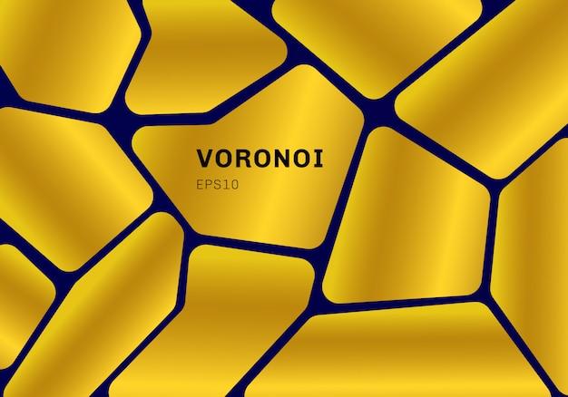 Abstrakcjonistyczny złocisty voronoi diagrama tło