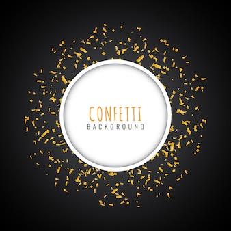 Abstrakcjonistyczny złoty confetti nowożytny tło
