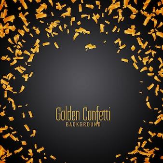 Abstrakcjonistyczny złoty confetti tło