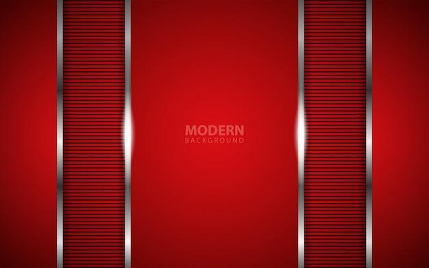 Abstrakcjonistyczny zmrok - czerwony nasunięcia tło z srebną linią
