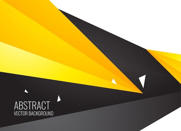 Abstrakcjonistyczny żółty i czarny geometryczny kształta tło