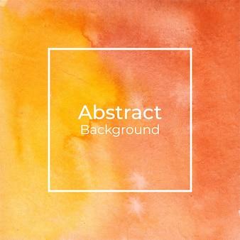 Abstrakcjonistyczny żółty i pomarańczowy akwareli tło