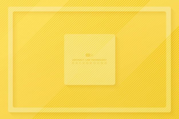 Abstrakcjonistyczny żółty lampas linii wzoru projekta tło.