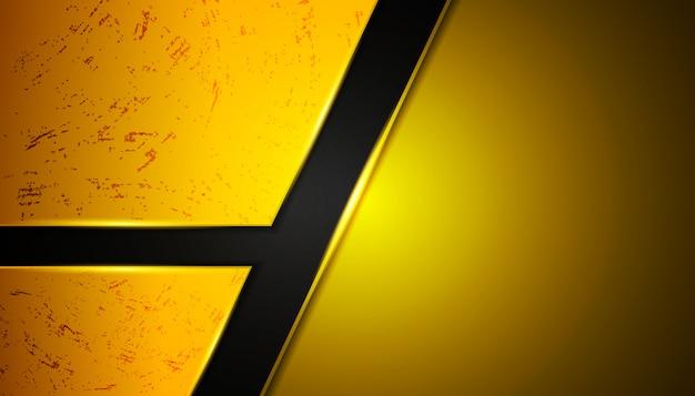 Abstrakcjonistyczny żółty metal kształtuje tło