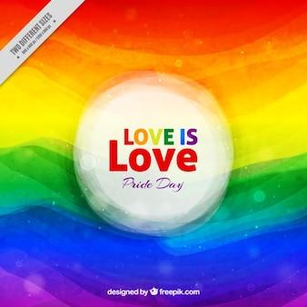 Abstrakcyjna akwarele tka pride day tła