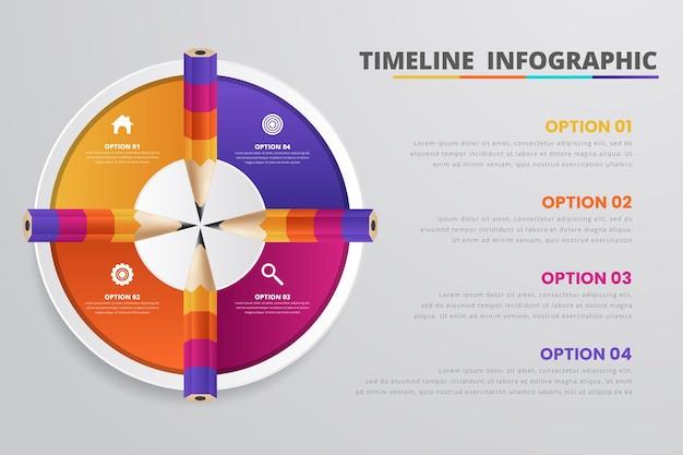 Abstrakcyjna cyfrowa ilustracja 3d infografika
