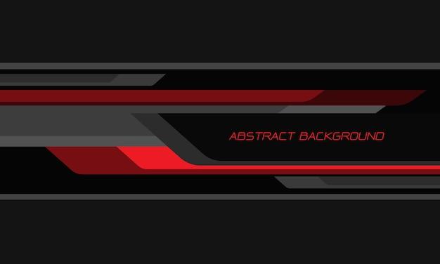Abstrakcyjna czerwona czarna geometryczna prędkość nakładania się na ciemnoszarym tle nowoczesnej futurystycznej technologii