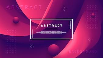 Abstrakcyjna fali gradientu tła z kombinacją czerwony i ciemny purpurowy.