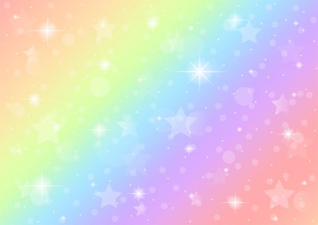 Abstrakcyjna galaktyka jednorożec fantasy. tęcza tło