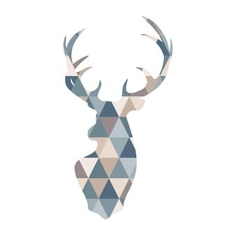 Abstrakcyjna geometryczna ilustracja jelenia
