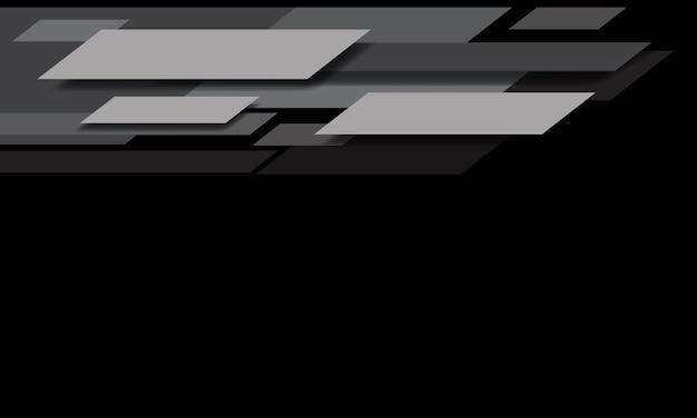Abstrakcyjna geometryczna prędkość w odcieniu szarości na czarnym tle z pustą przestrzenią nowoczesnej futurystycznej technologii